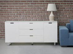 White And Special Sideboard TV Banc Beliani