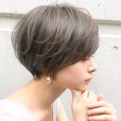 The Most Beautiful Wedding Hairstyles Short Choppy Hair, Asian Short Hair, Short Grey Hair, Short Hair Cuts, Short Hairstyles For Women, Bob Hairstyles, Haircuts, Wedding Hairstyles, Hair A