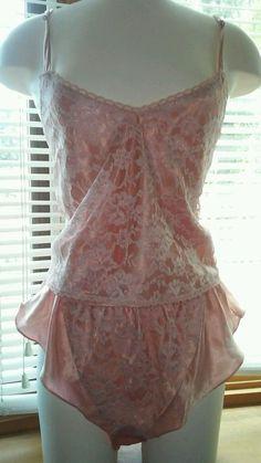 6aca74b88e11 Victoria's Secret Cami & Flutter Panties Set Gold Label VTG Pink All Over  Lace M #VictoriasSecret. Vintage Victorias Secret Pink Silky ...