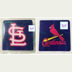 St Louis Cardinals Logo Acrylic Coasters by Cr8tive Release Gifts (READY TO SHIP) – RTS – KITCHEN – INDOOR HOME DECOR