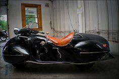 流線型のグラマラスなカウルがかっこいいカスタムバイク「1930 Art Deco Henderson」 - DNA