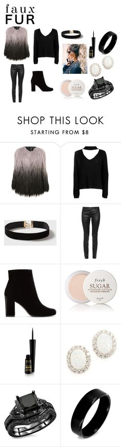 """Ombre fur"" by sami-xii on Polyvore featuring Boohoo, Dorothy Perkins, Balenciaga, Yves Saint Laurent, Fresh, Kenneth Jay Lane, West Coast Jewelry and fur"