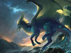 Fantasy art by Clockbirds Mythical Creatures Art, Mythological Creatures, Magical Creatures, Wings Of Fire Dragons, Cool Dragons, Beatrix Potter, Pokemon, Fire Art, Medieval