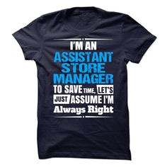 Assistant Store Manager T-Shirts, Hoodies. VIEW DETAIL ==►…