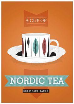 Scandinavian poster | a cup of Nordic tea