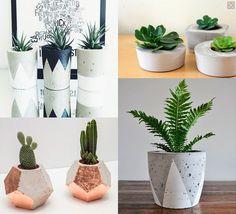 Vasos de cimento: como fazer e usar na decoração                                                                                                                                                                                 Mais