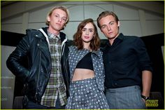 Lily Collins & Jamie Campbell Bower: 'City of Bones' Autograph Signing! | lily collins jamie campbell bower city of bones autograph signing 05 - Photo
