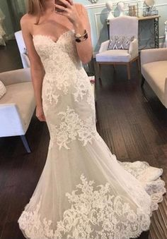 Wedding Gowns Bridal Dresses vestidos de noiva 2017 New Sexy Lace Mermaid Wedding Dresses Sweetheart Sequin Tulle