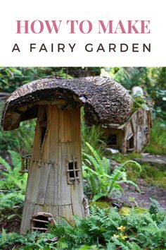 Fairy gardens are fun and easy to add a little bit of fun and imagination to any outdoor area. Here is how to make a fairy garden.