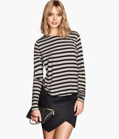 Dedicated to Swedish sweetie, Frida Gustavsson. H&m Fashion, Fashion Online, Frida Gustavsson, Grey Stripes, Turtle Neck, Classy, Chic, Tops, Sweaters