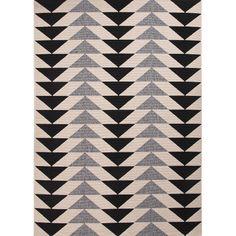 Jaipur Rugs Patio Ivory & Black Indoor/Outdoor Area Rug | AllModern