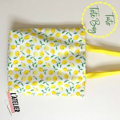 tote bag facile citrons par l'atelier de la creation
