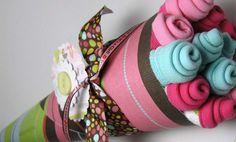 It's a GIRL  Washcloth Flower Bouquet by BabySweetTreats on Etsy, $20.00