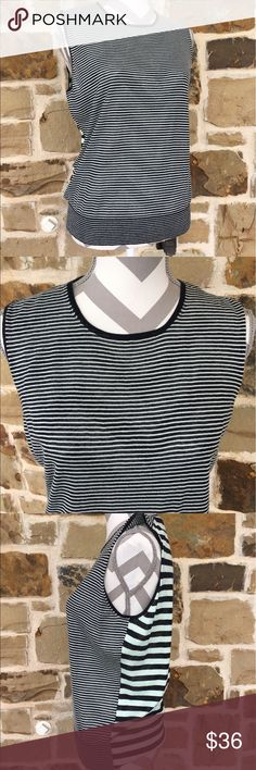 Ann Taylor pullover top NWOT!  Black and mint green stripes.  Great layering price or by itself!  Never worn!   Approx 20 pit to pit and approx 20 length. 😻😻 Ann Taylor Tops