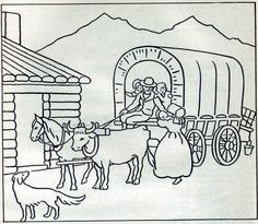 vintage pioneer life coloring pages Camping Coloring Pages, Coloring Book Pages, Coloring Sheets, Pioneer Day Activities, Kid Activities, Preschool Ideas, Pioneer Crafts, Mormon History, Pioneer Life
