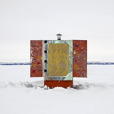 """Untitled from the """"Ice Huts"""" series by Canadian photographer Richard Johnson in Canada. via Obsessive Collectors"""