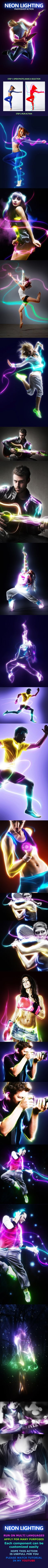 Neon Lighting - #Photo Effects #Actions Download here: https://graphicriver.net/item/neon-lighting/17893626?ref=alena994