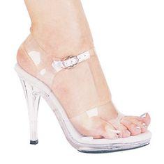 M - Brook - Ellie Clear Competition Shoes-brook, clear, sandal, heel, 5, competition shoe, clear, bikini competition shoe, npc figure compti...