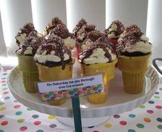 The Very Hungry Caterpillar - ice cream cones