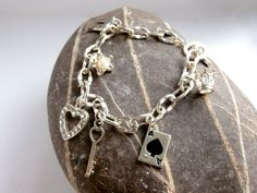 Charm Bracelet - Assorted - Upcycled by ReTainReUse on Etsy