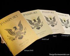 Wedding Passport Invitation by designquintessential on Etsy, $5.20