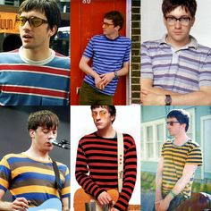 This is Graham's glasses striped shirts appreciation post. Big huge thanks to Panny, cause I think at least half of these pics are from her Things To Do With Boys, Boys Like, Graham Coxon, Damon Albarn, Hate Men, Surf, Nerd Fashion, Britpop, Attractive People