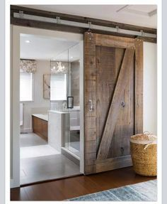 Barn door for SHOP BATHROOM