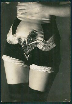 Yva Richard's brochure, La Lingerie Moderne, offered masks and iron restraints, much of it modelled by the aforesaid Nativa (1920s and 1930s, Paris)