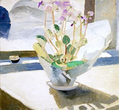 "Winifred Nicholson, ""Primulas"", Oil on hardboard, x cm, Collection: Manchester City Galleries Art And Illustration, Art Floral, Oil Painting Flowers, Painting & Drawing, Winifred Nicholson, Art Uk, Your Paintings, Flower Art, Photo Art"