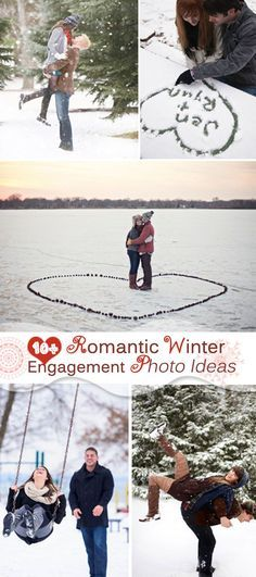 Romantic Winter Engagement Photo Ideas!