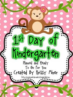 Back to School Detailed Lesson Plans for the Day of Kindergarten Mrs. Miner's Kindergarten Monkey Business: Tips for Planning the First Day of Kindergarten (freebie included! Beginning Of Kindergarten, Kindergarten Freebies, Kindergarten Rocks, Kindergarten Classroom, Kindergarten Activities, School Classroom, Classroom Ideas, Preschool, Future Classroom