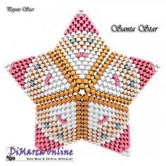 Tutorial Santa 3D Peyote Star + Basic Tutorial Little 3D Peyote Star (download link per e-mail) - DiMarca Online