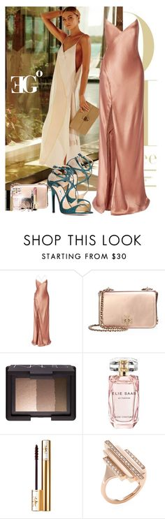 """Sun gem"" by eleonoragocevska ❤ liked on Polyvore featuring Jimmy Choo, Michelle Mason, Tory Burch, NARS Cosmetics, Elie Saab, Yves Saint Laurent, Chanel and Carbon & Hyde"