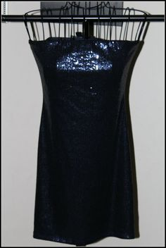 Womens dress Forever 21 Blue sequin dress size s/p 98 poly/2 spandex #FOREVER21 #Strapless #Yourchoice