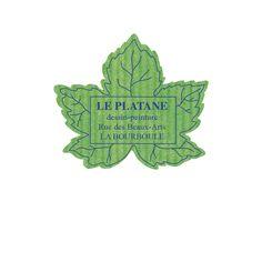 etiquette autocollante Forme feuille érable verte