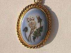 Vintage Pendant/Necklace B & G Porcelain Flower by JewlsinBloom