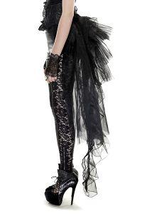 Burlesque Schwalbenschwanz Rock mit Miedergürtel