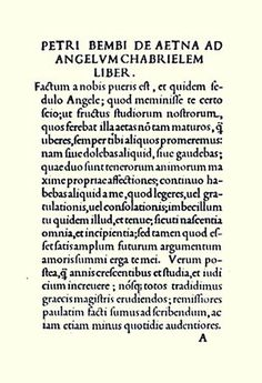 """13. Bembo, Francesco Griffo (1496) — In February 1496, Griffo designed a typeface for the essay """"De Aetna"""" by the Italian scholar Pietro Bembo, which achieved great popularity under the name Bembo. #typography #fonts"""