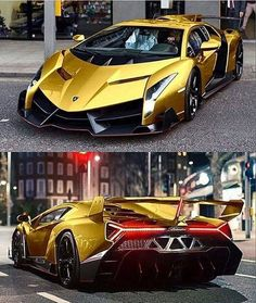 Amazing vehicle from Lamborghini, a top quality cars and truck brand. BMW is one of the most famous auto brands in the world. Lamborghini autos are flashy and also cool. Luxury Sports Cars, Top Luxury Cars, Exotic Sports Cars, Cool Sports Cars, Super Sport Cars, Exotic Cars, Lamborghini Veneno, Carros Lamborghini, Gold Lamborghini