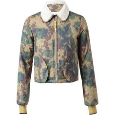 OPENING CEREMONY Camouflage Printed Cotton Jacket ($410) ❤ liked on Polyvore
