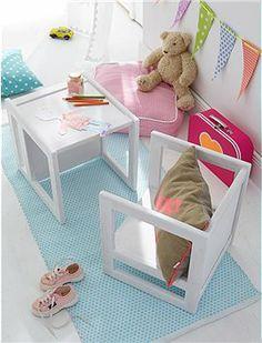 Kinder-Multimöbel Ob Sitz, Sessel oder Tisch, mit diesem Multimöbel können Sie Ihrem Kind alle Funktionen bieten