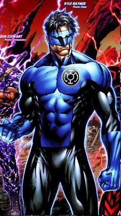 Kyle Rayner - Blue Lantern    Im sorry...does it say is power is HOPE?! If so then, MAGIKARP! Use Splash!!!! *I just won that battle*