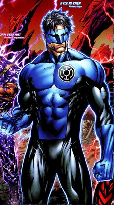 "Kyle Rayner - Blue Lantern. I'm not gonna lie. This seriously made ""War of the Green Lanterns"" for me."
