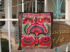 Tote Handmade Ethnic Hmong Bag C001 by himapan on Etsy, $99.00