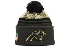 f7410ebf2aa Amazon.com   Men s New Era NFL Carolina Panthers 16 Salute To Service Knit  Hat Camo Size One Size   Sports   Outdoors