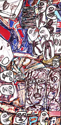 Jean Dubuffet Garden Party, 1976 Acrylic on paper, mounted on canvas. Paintings Famous, Modern Art Paintings, Cool Paintings, Jean Dubuffet, Art Brut, Art Walk, Unusual Art, Abstract Drawings, True Art