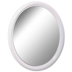 Style Selections x White Oval Framed Wall Mirror Lowes 25 x 31 Oval Mirror, Oval Frame, Purple Picture Frames, Picture Frame Hangers, Metal End Tables, Console Tables, Water Damage Repair, White Wall Mirrors, Framed Chalkboard