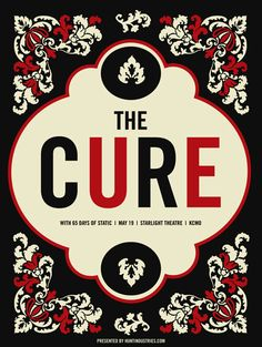 The Cure Poster by Vahalla Studios via Gig Posters