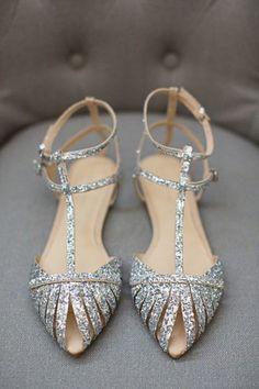 Sapatos flat para noivas