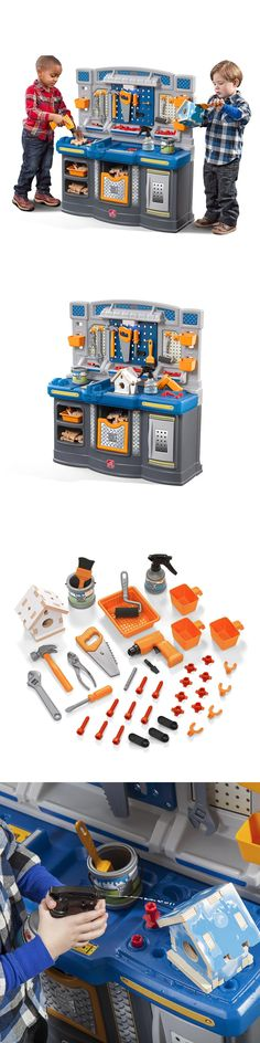 Tool Sets 158747: Toy Work Bench Kids Workbench Tool Set Big Builders Pro Workshop Playset Boys -> BUY IT NOW ONLY: $185.87 on eBay!